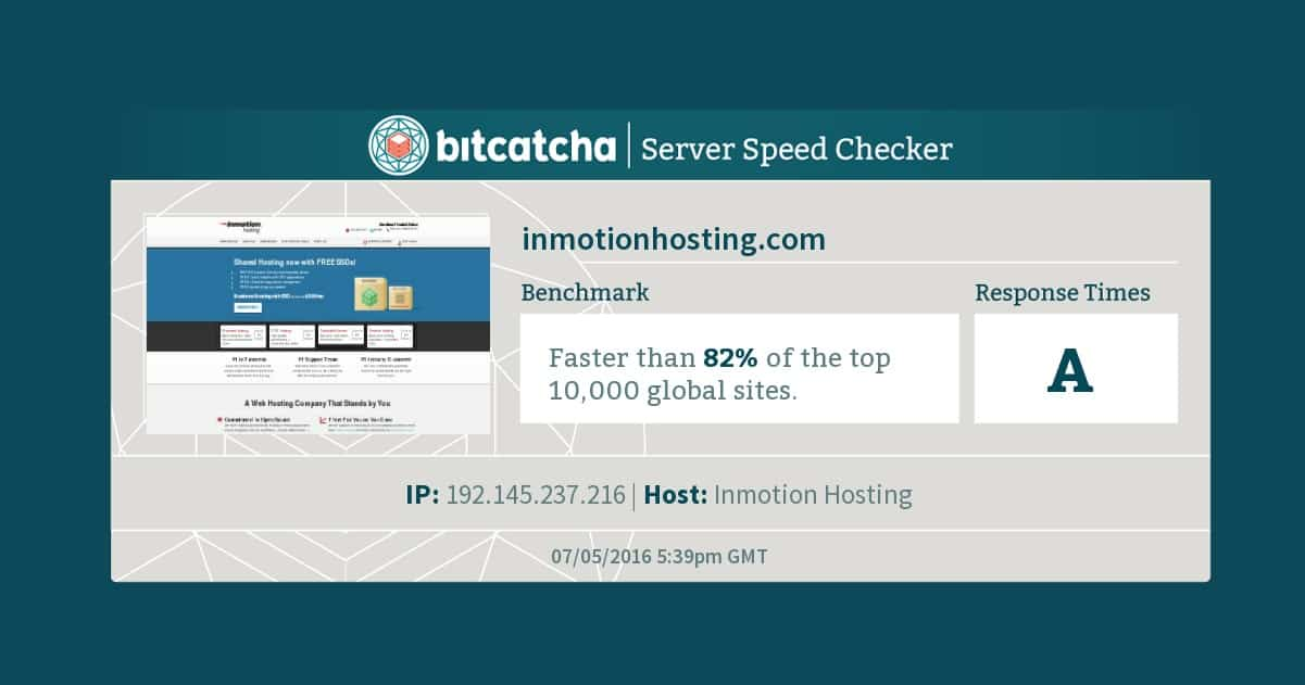 Server Speed Test Results