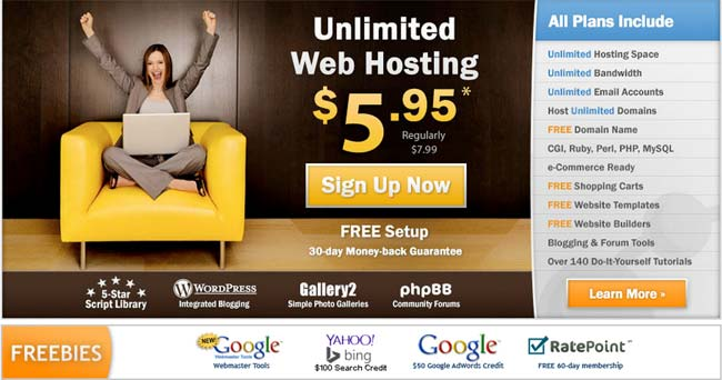 Unlimited Hosting with Dot5