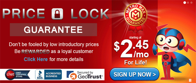 HostMetro Price Lock Guarantee