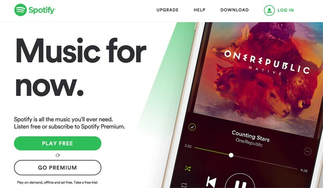 Spotify gives instant access to free music