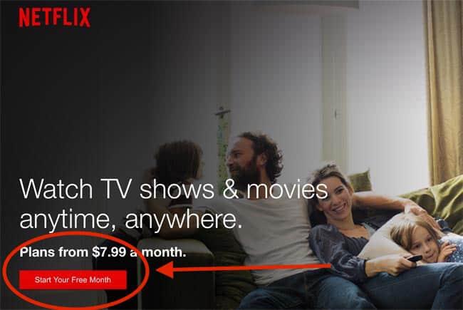 Netflix Free Month
