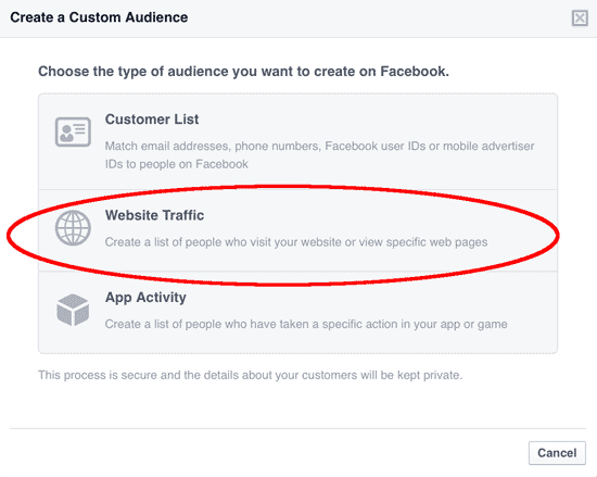 Create Custom Audience
