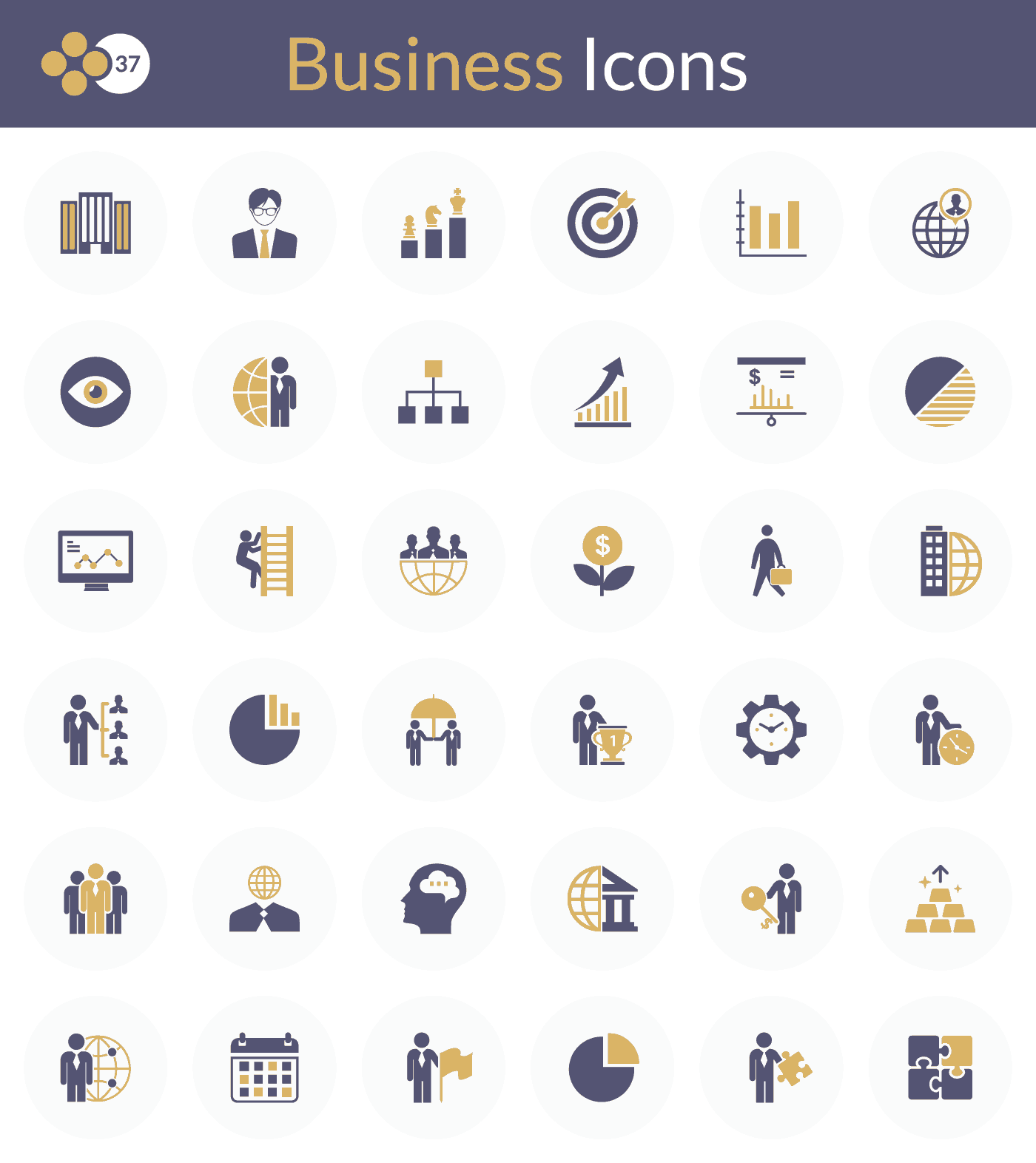 36 Exclusive Business Flat Icons Free for Download