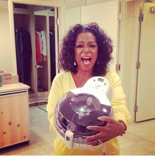 Oprah endorsing a fryer