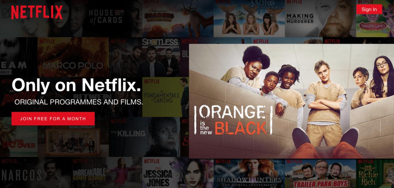 Netflix value prop