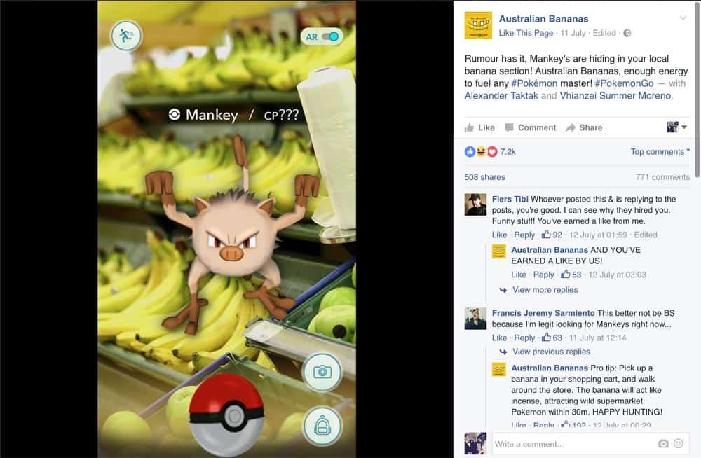 Australian Bananas Pokemon Go