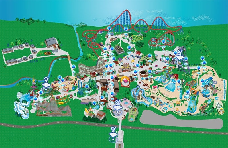 Six Flags Adventure pokemon map