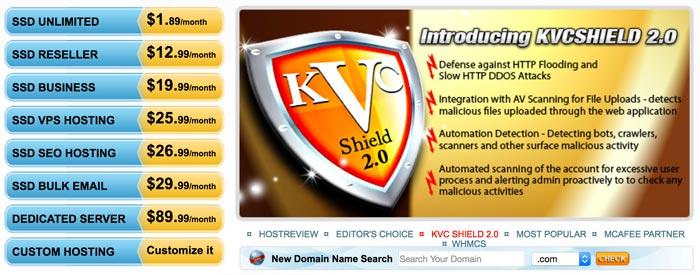 KVC Hosting Plans