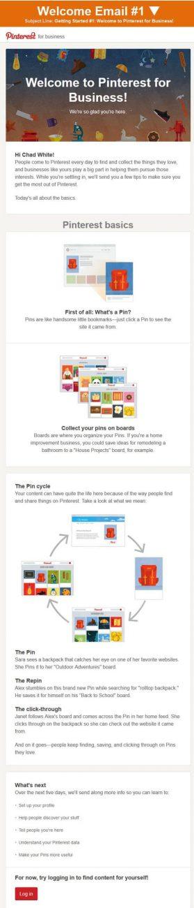 Pinterest 1st Email