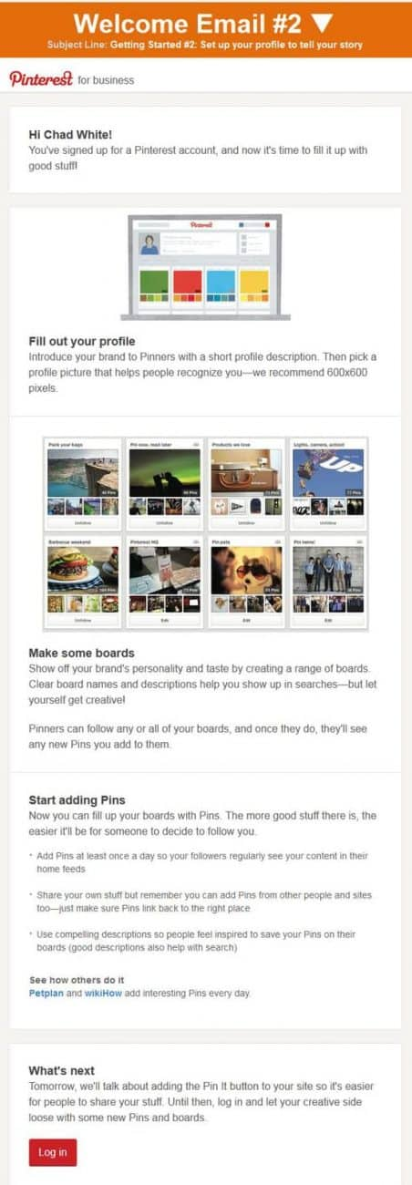 Pinterest 2nd Email
