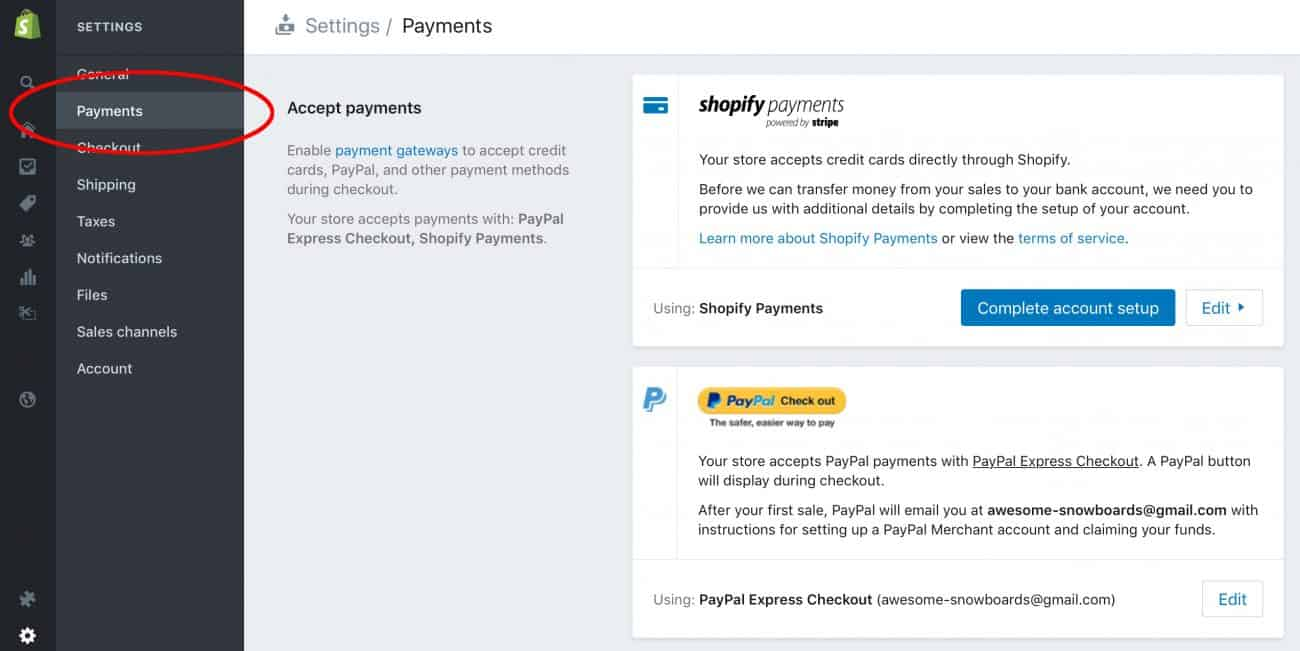 Add a payment gateway to your store
