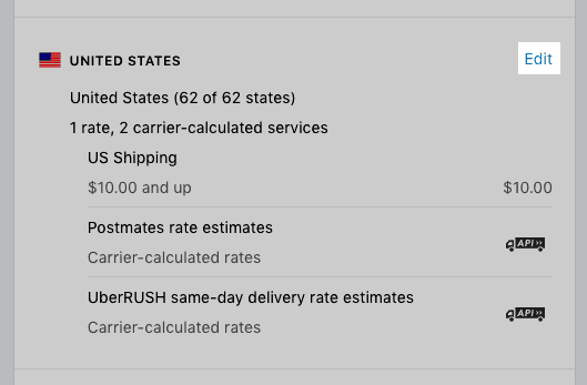 Calculate shipping rate