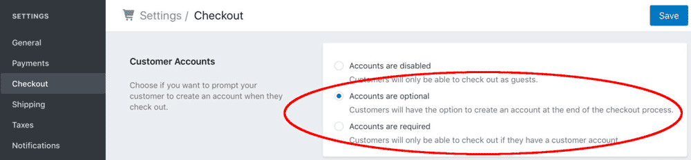 Shopify customer accounts