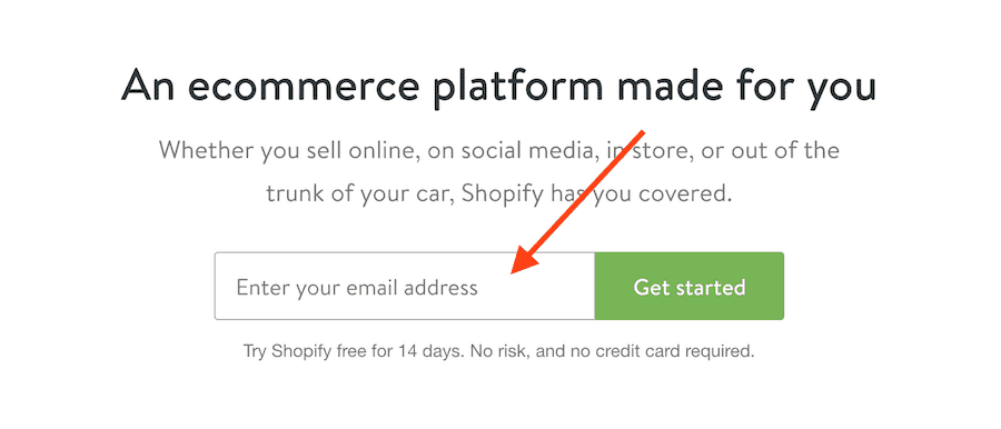 Start the Shopify Trial