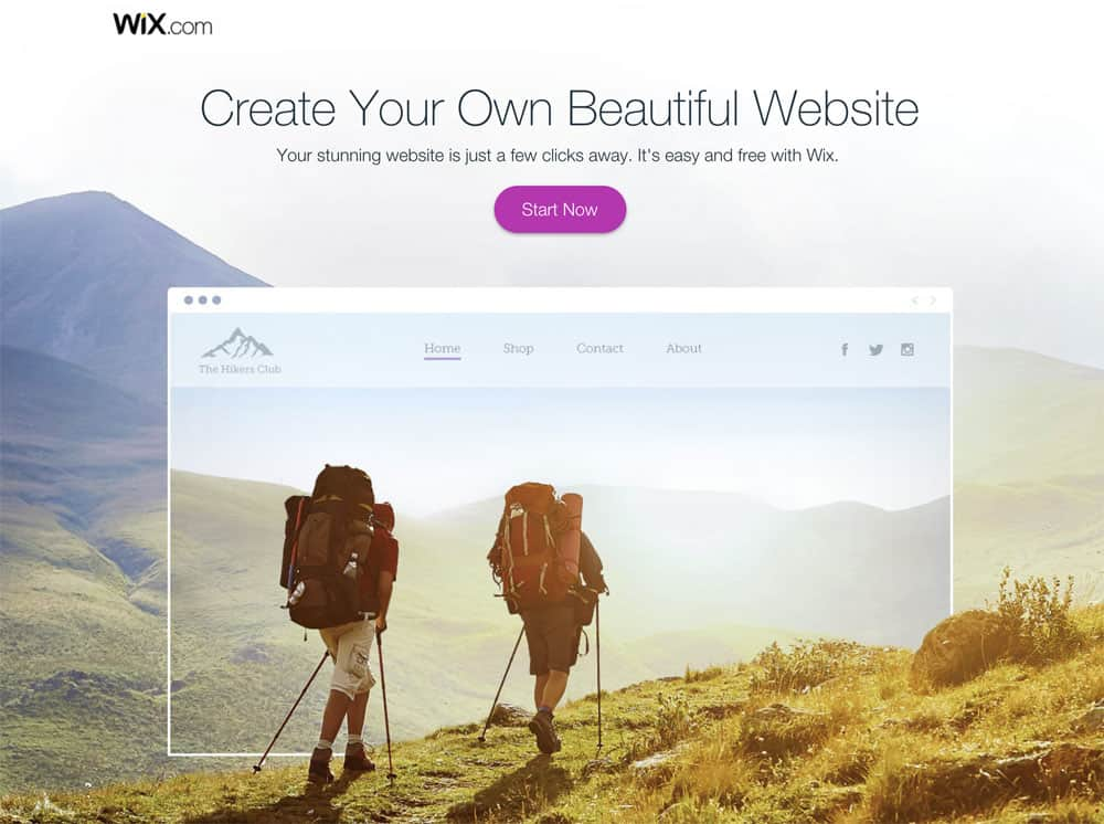 Create beautiful site with Wix