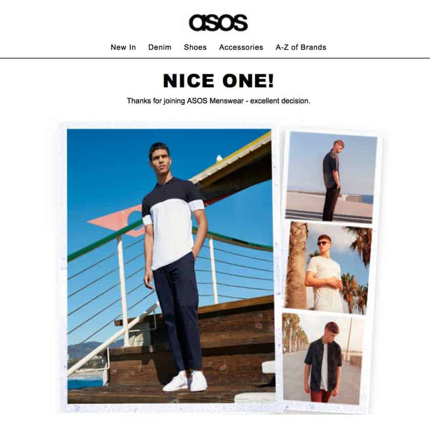 Asos Email Example