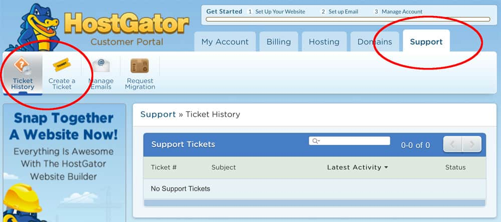 Submit & Track Support Ticket