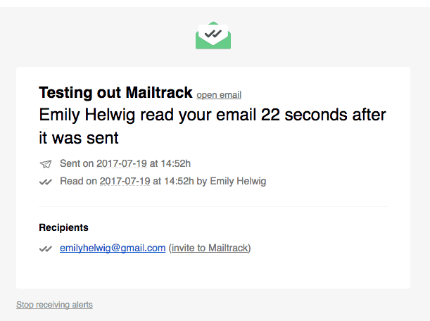 mailtrack screen shot