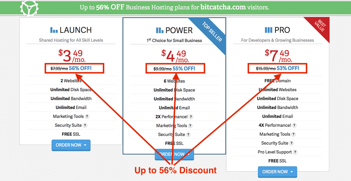 Inmotion Hosting 56% exclusive discount for Bitcatcha readers