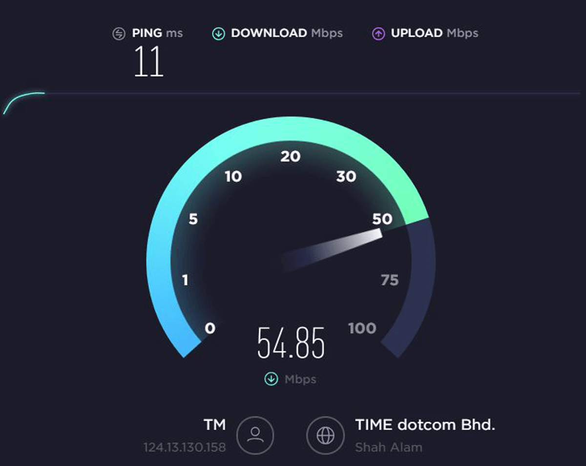 test vpn speed