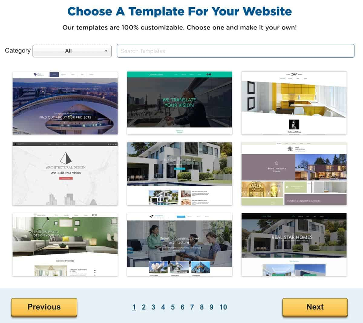 HostGator Site Builder Templates