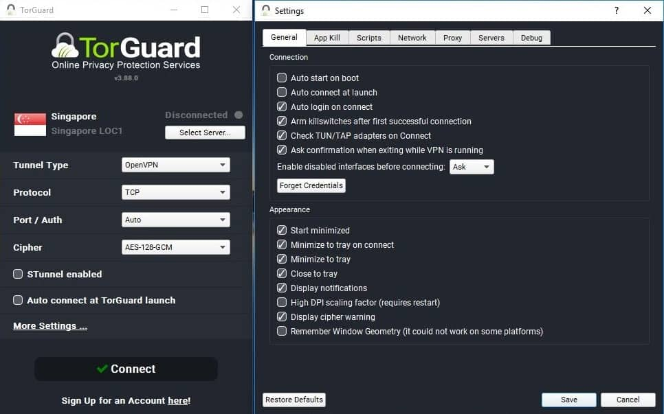 TorGuard Interface