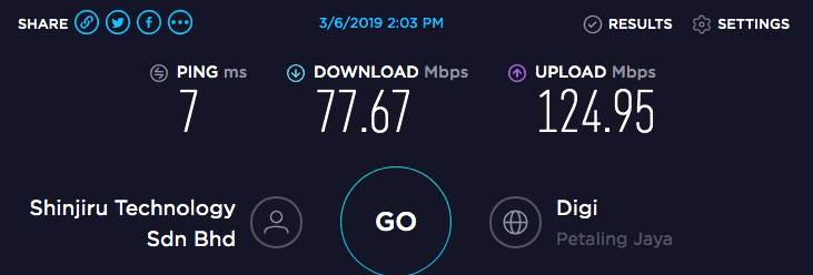 TorGuard Speed Test Indonesia