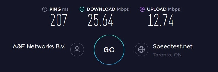 ExpressVPN Speed Test - Canada