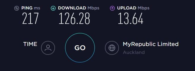 Baseline Speed (No VPN) - New Zealand