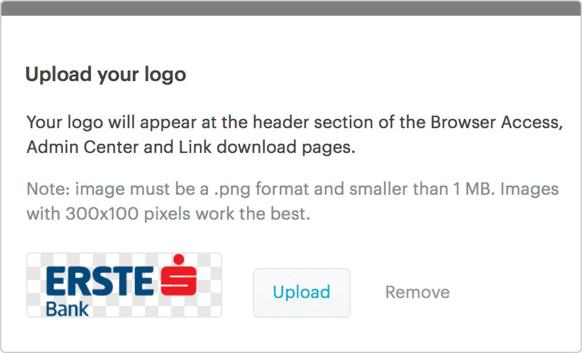 tresorit allows custom branding