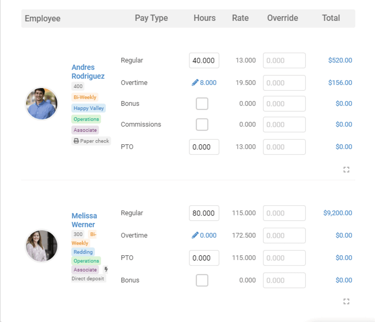see employee details at one view with onpay payroll