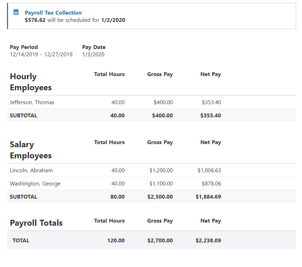 patriot software approve payroll section
