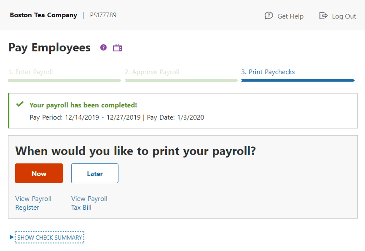 patriot software lets you print payroll
