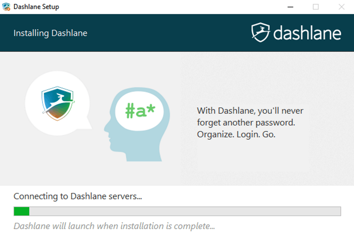 dashlane installation screen