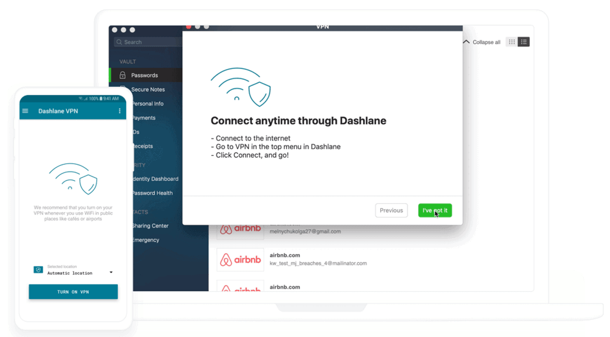 dashlane has built in vpn