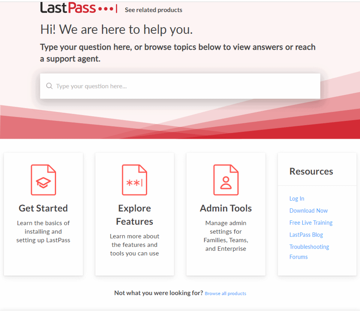 lastpass has no live support
