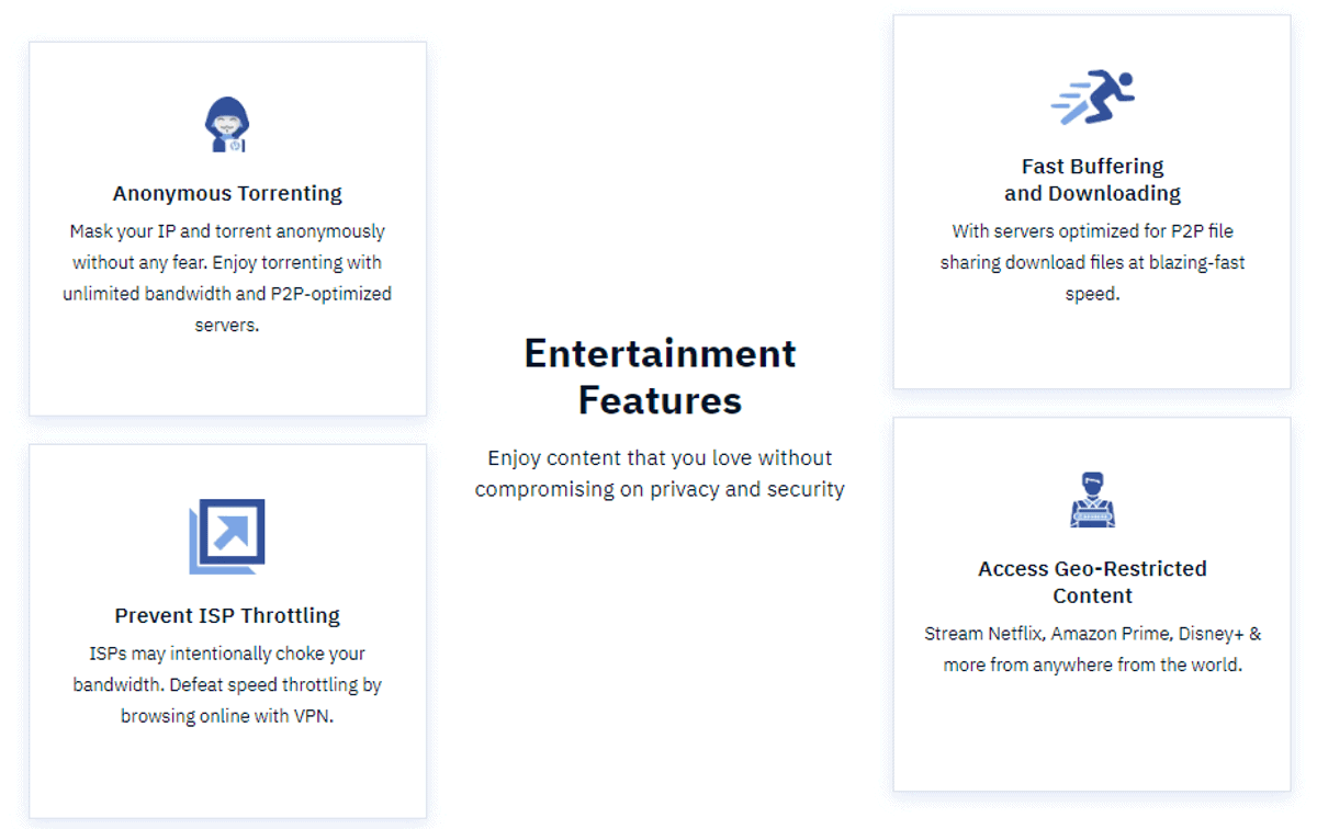 fastestvpn has various useful features for entertainment