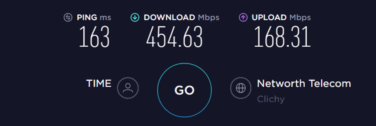 france internet connection speed server test
