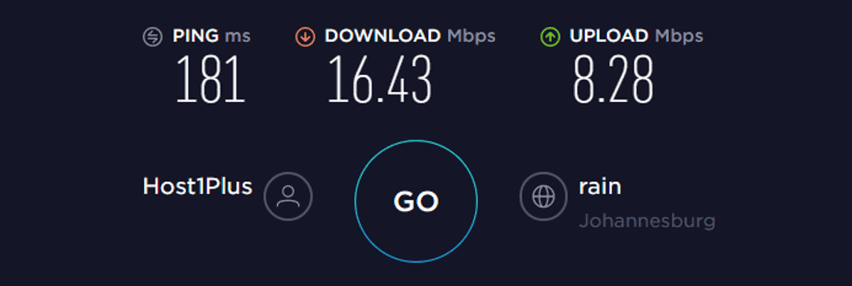 hidemyass vpn speed test SA on