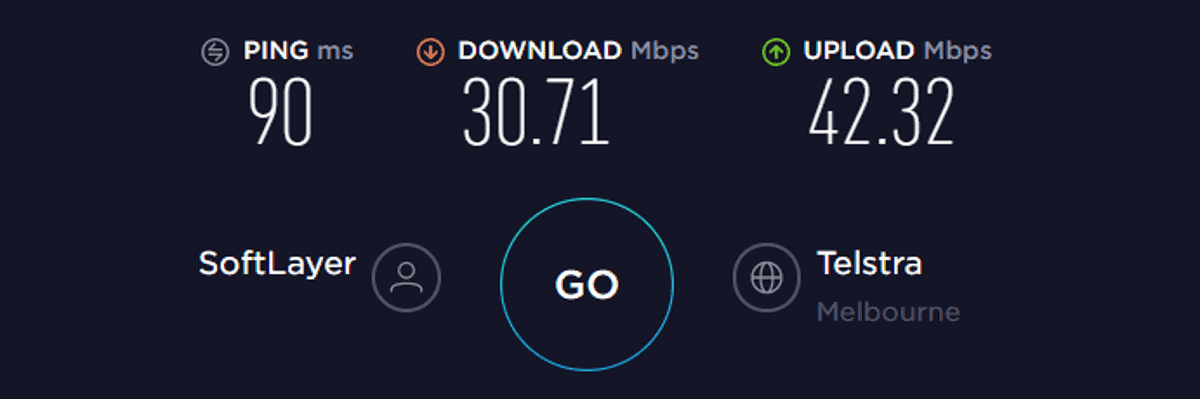 hidemyass vpn speed test aus on
