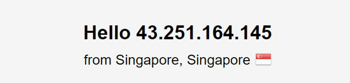 vyprvpn connected via singapore server