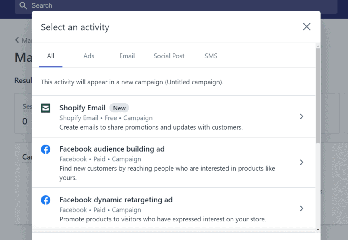 shopify has extensive marketing tools