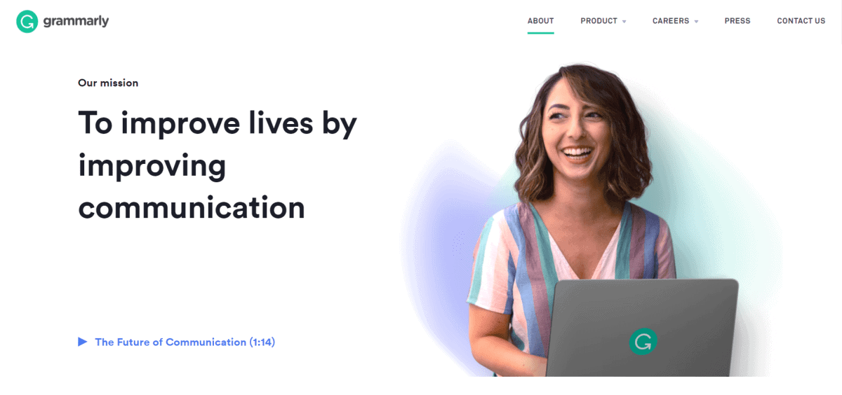 grammarly official website homepage