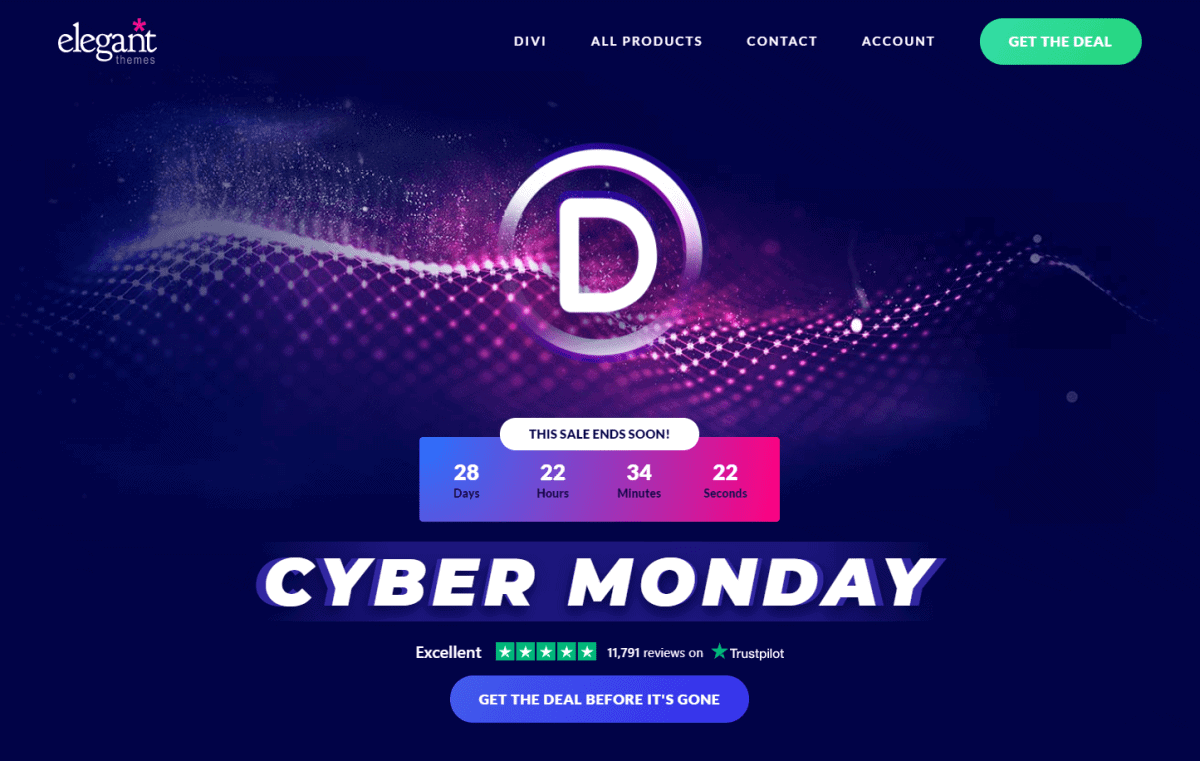divi cyber monday sale 2020