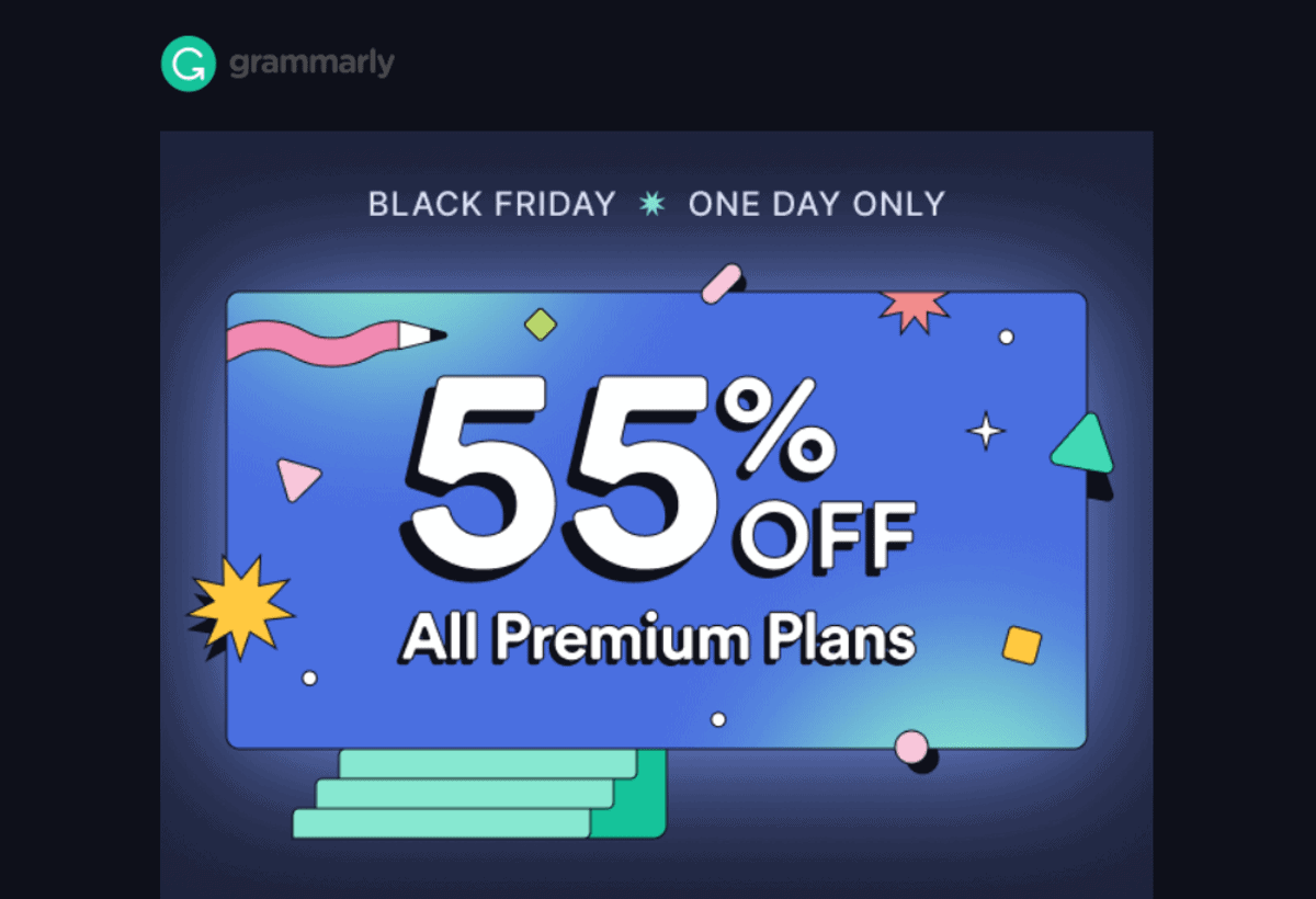 grammarly premium 55% OFF black friday