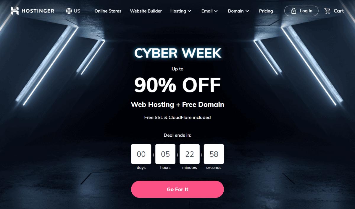 hostinger cyber week sale 2020