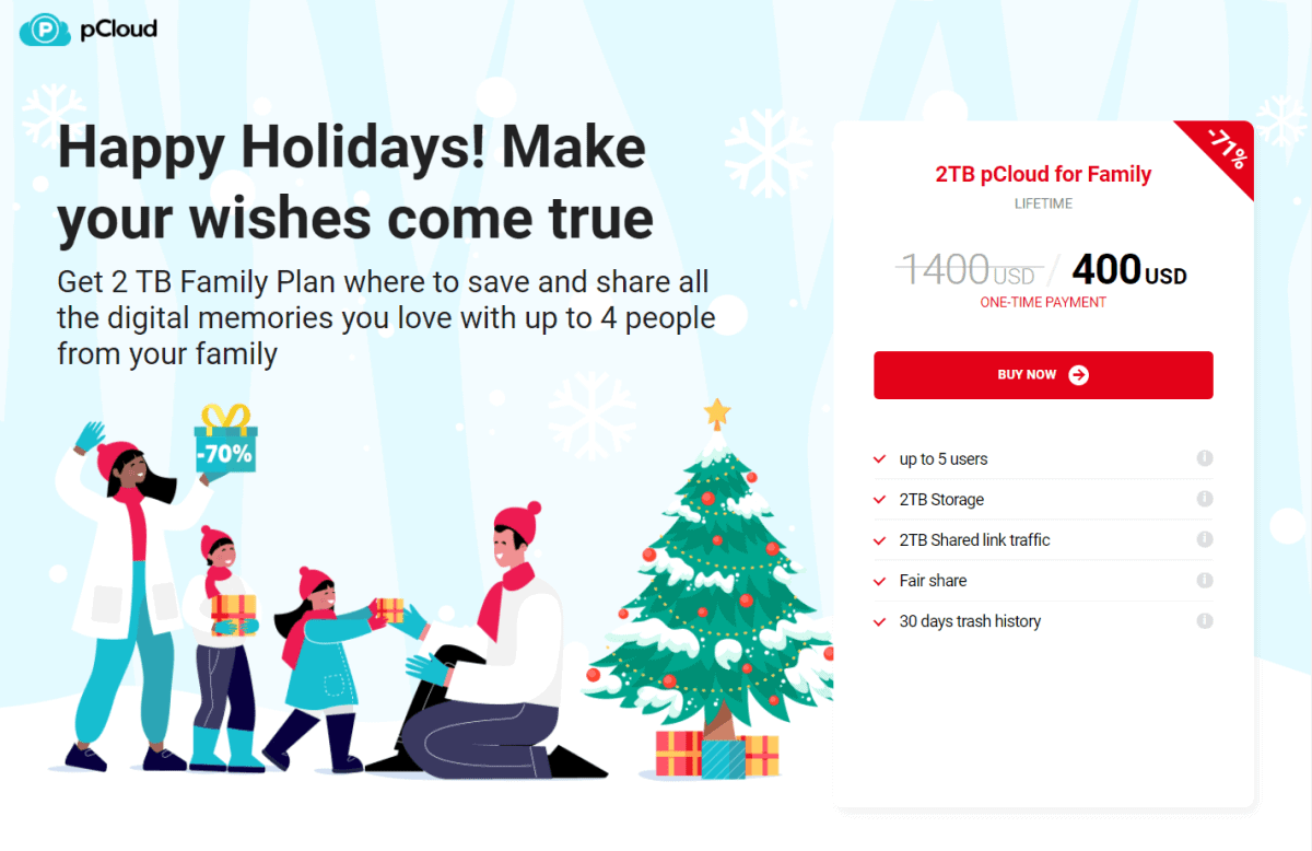 pcloud christmas deals 2020