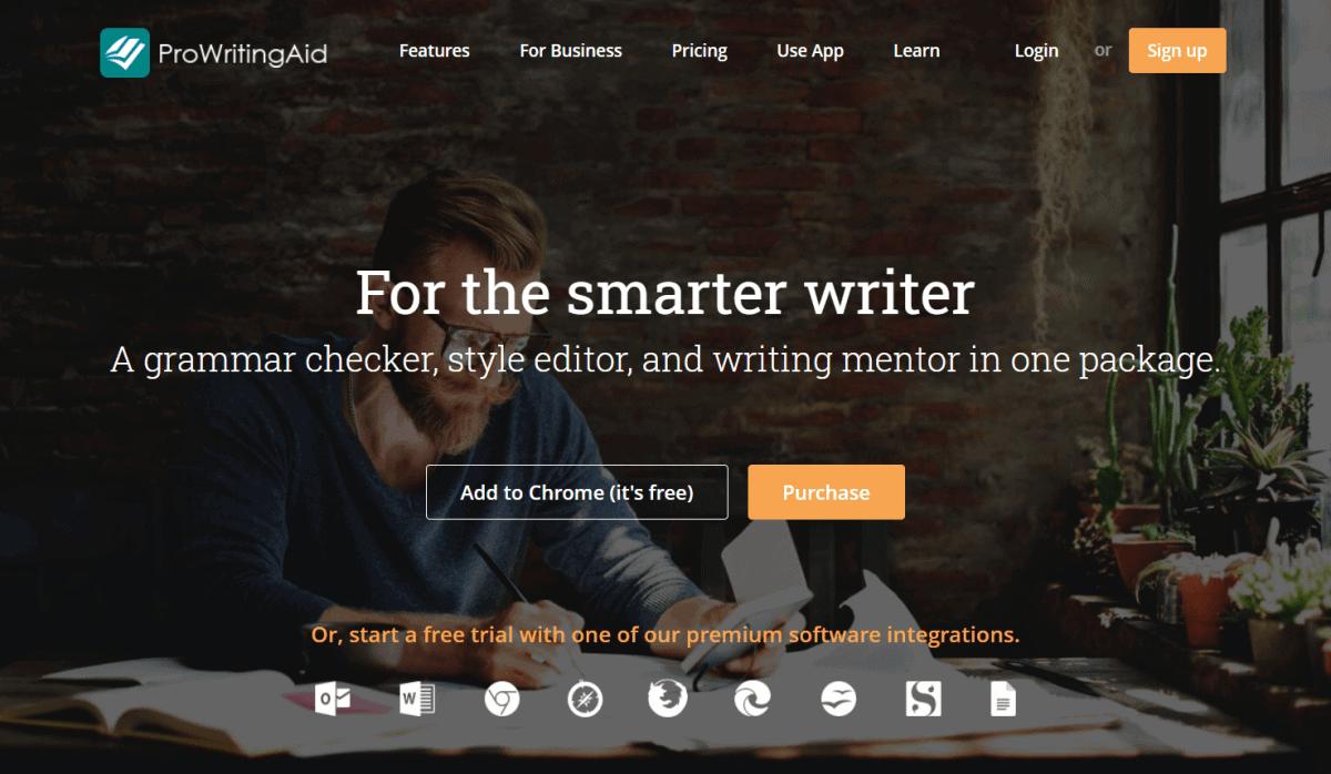 prowritingaid website homepage