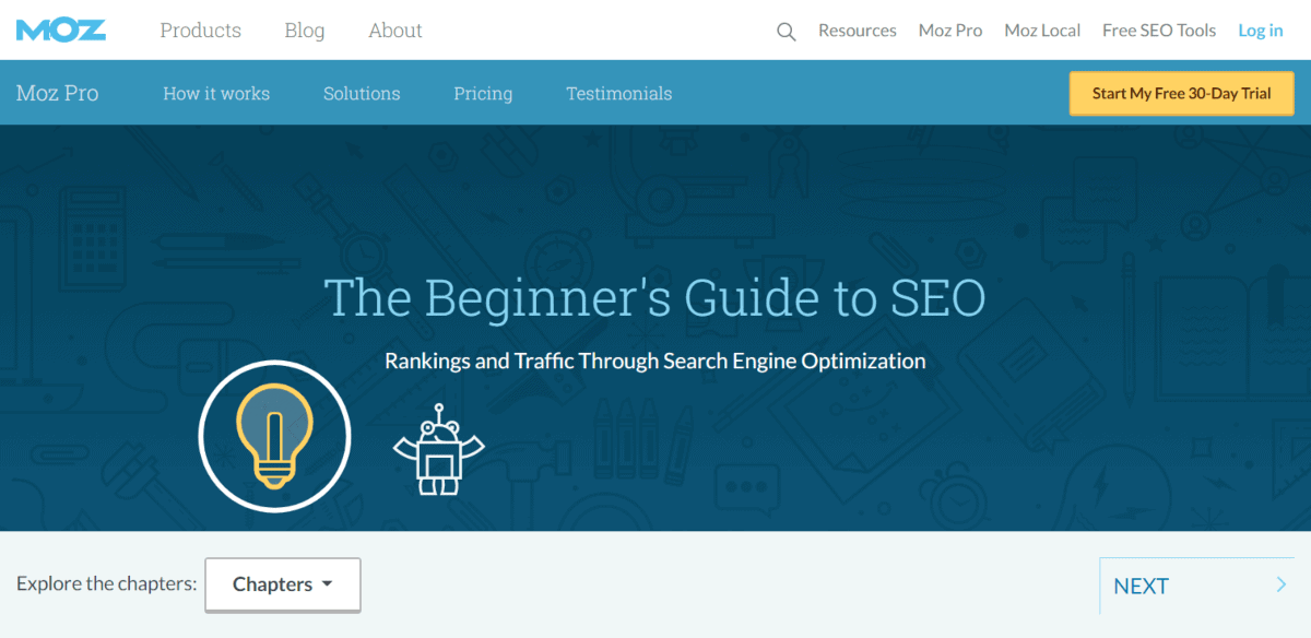 beginner guide to seo from moz