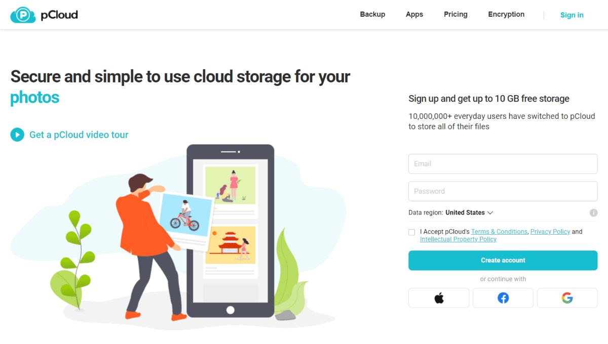 pcloud homepage